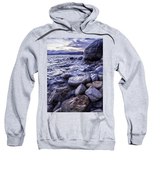 Wet Rocks At Sunset Sweatshirt