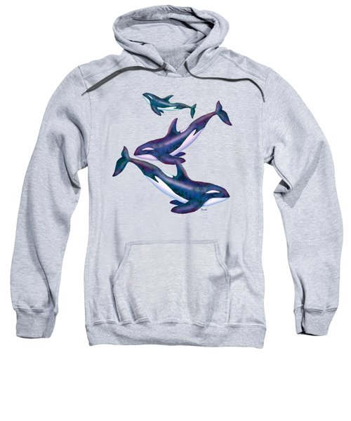Whale Whimsey Design Sweatshirt by Teresa Ascone