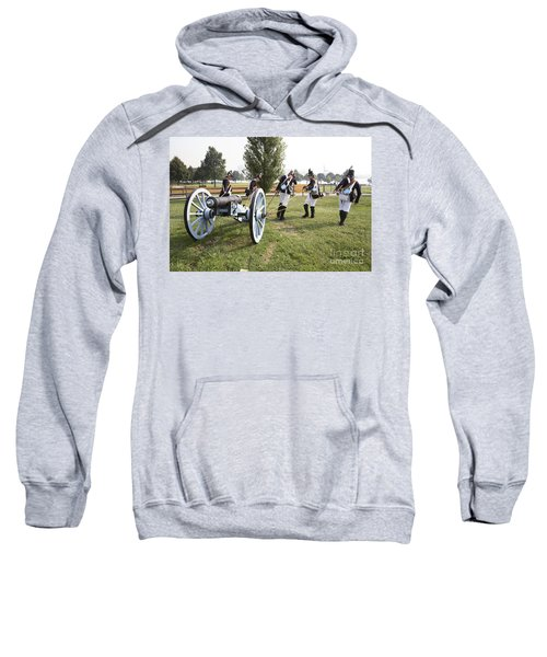 Wheeling The Cannon At Fort Mchenry In Baltimore Maryland Sweatshirt