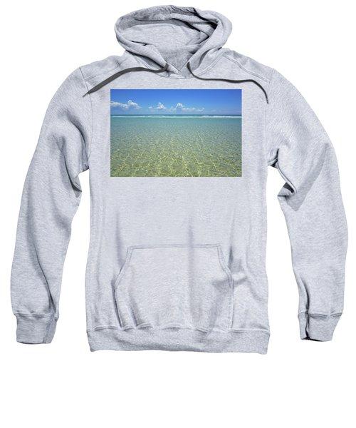 Where Crystal Clear Ocean Waters Meet The Sky Sweatshirt