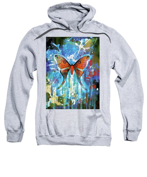 Whimsical Butterfly Collage Sweatshirt