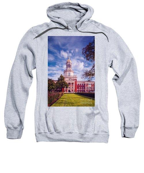Whimsical Clouds Behind Pat Neff Hall - Baylor University - Waco Texas Sweatshirt