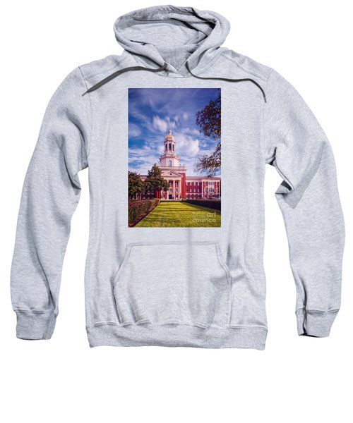 Whimsical Clouds Behind Pat Neff Hall - Baylor University - Waco Texas Sweatshirt