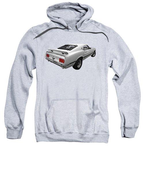 White '69 Mach 1 In Black And White Sweatshirt