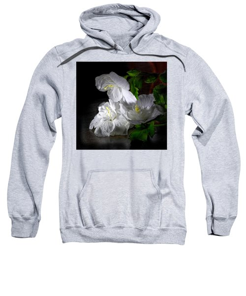 White Blossoms Sweatshirt