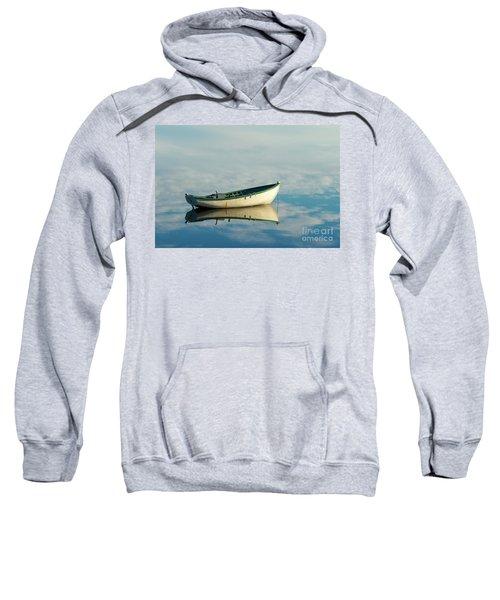 White Boat Reflected Sweatshirt