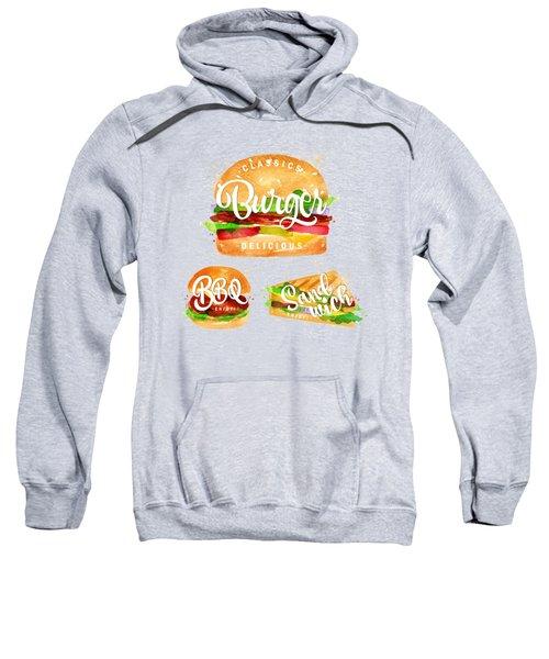 White Burger Sweatshirt by Aloke Creative Store