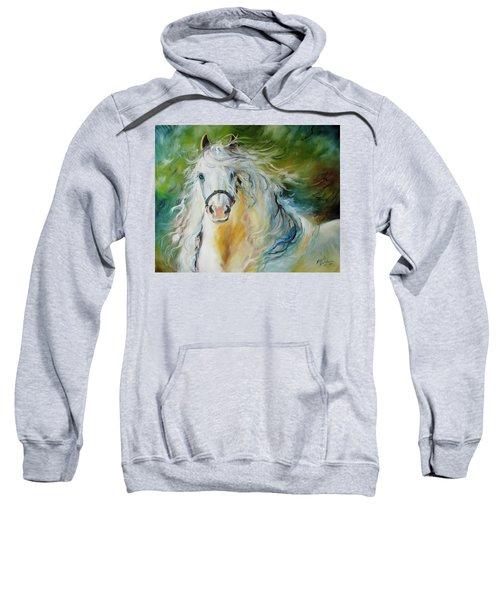 White Cloud The Andalusian Stallion Sweatshirt