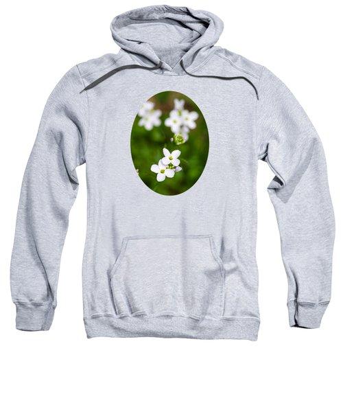 White Cuckoo Flowers Sweatshirt