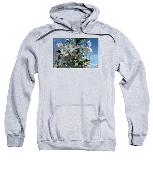 White Flowers - Variation 2 Sweatshirt