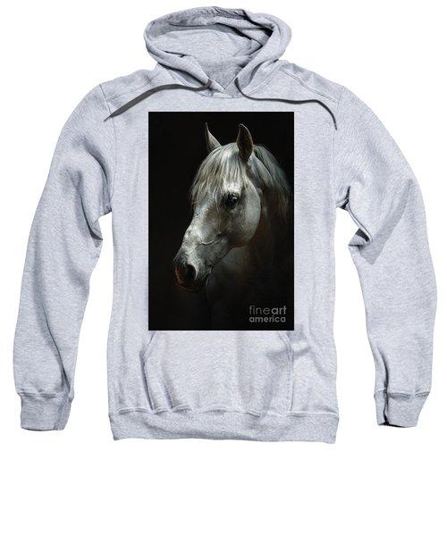 White Horse Portrait Sweatshirt