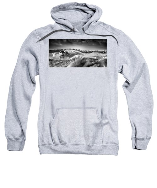 Sweatshirt featuring the photograph White Horses by Chris Cousins