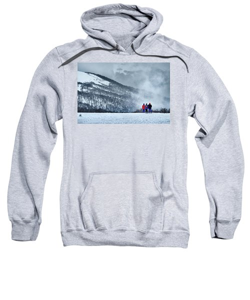 White Landscape In The Frozen Paradise In The Argentine Patagonia Sweatshirt