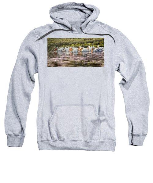 White Pelican Parade Sweatshirt