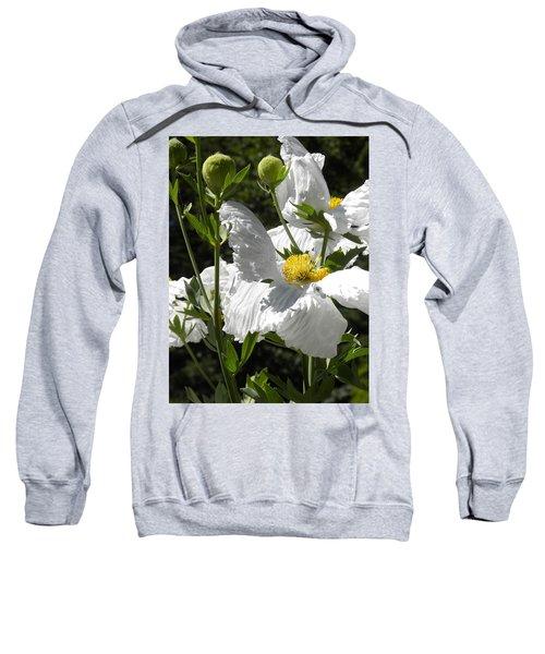 White Poppies Sweatshirt