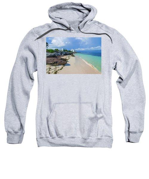 White Sandy Beach Of Cancun Sweatshirt