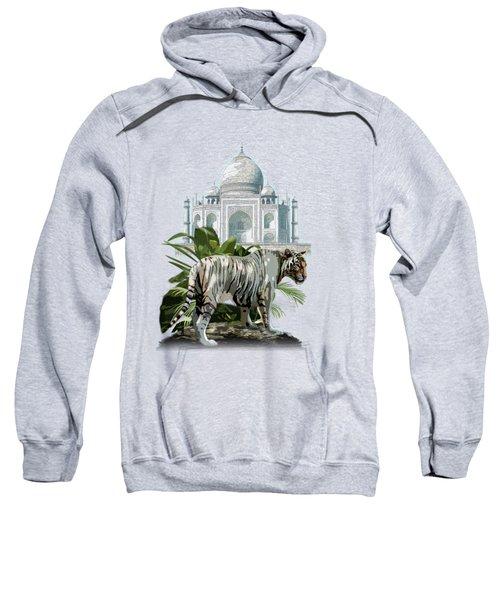 White Tiger And The Taj Mahal Image Of Beauty Sweatshirt