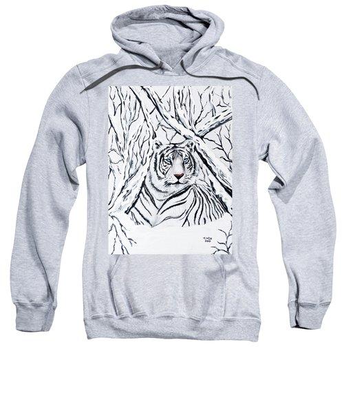 White Tiger Blending In Sweatshirt