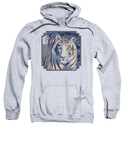 White Tiger - Crystal Eyes Sweatshirt by Crista Forest