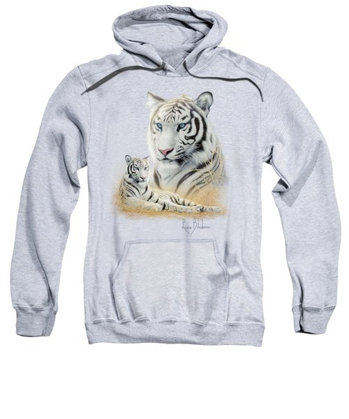 White Tiger Sweatshirt by Lucie Bilodeau