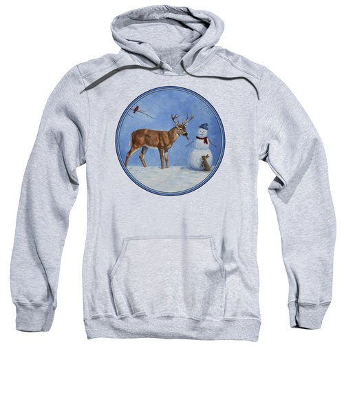 Whose Carrot Seasons Greeting Sweatshirt by Crista Forest