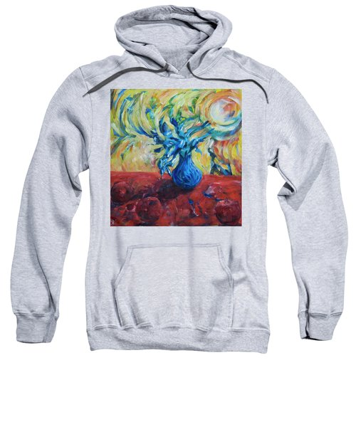 Sweatshirt featuring the painting Wild Flower by Yulia Kazansky