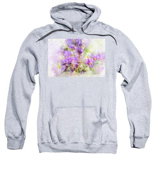 Wild Flowers In The Fall Watercolor Sweatshirt