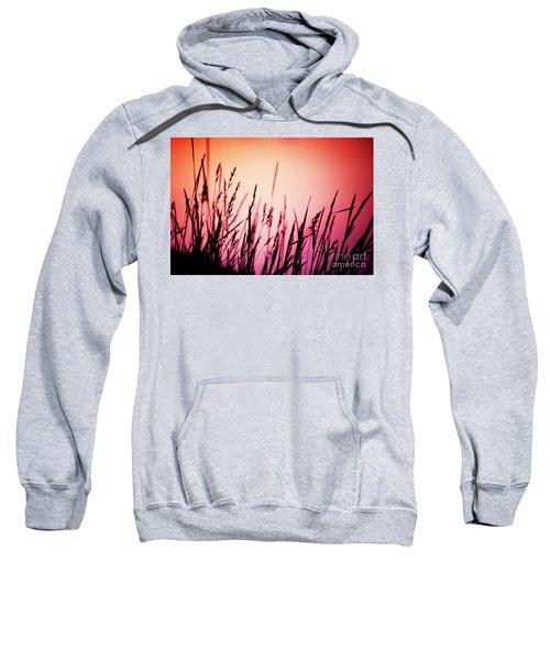 Sweatshirt featuring the photograph Wild Grasses by Scott Kemper