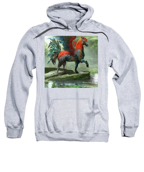 Wild Hippalektryon Sweatshirt by Ryan Barger