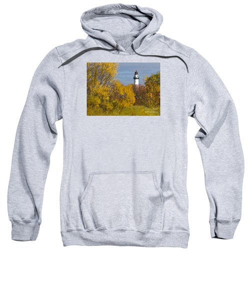Sweatshirt featuring the photograph Wind Point Lighthouse In Fall by Ricky L Jones