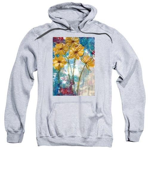Wild Sunflowers- Art By Linda Woods Sweatshirt