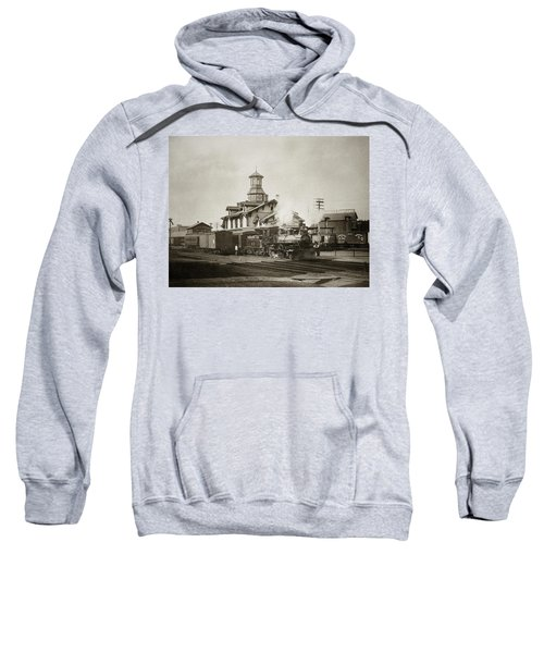 Wilkes Barre Pa. New Jersey Central Train Station Early 1900's Sweatshirt