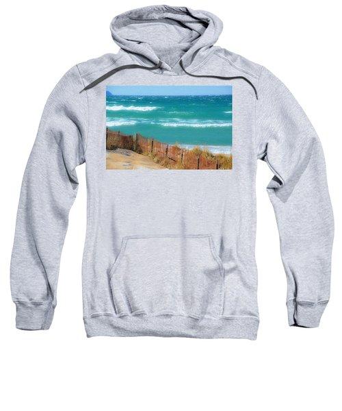 Windy Day On Lake Michigan Sweatshirt