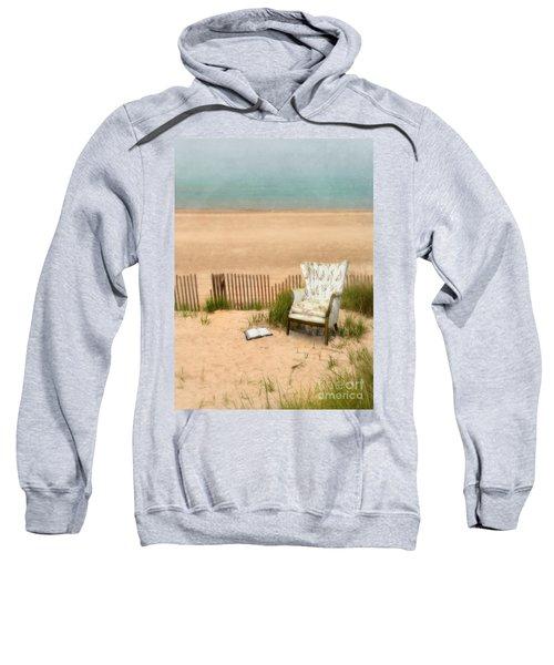 Wingback Chair At The Beach Sweatshirt