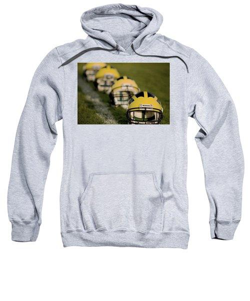 Winged Helmets On Yard Line Sweatshirt