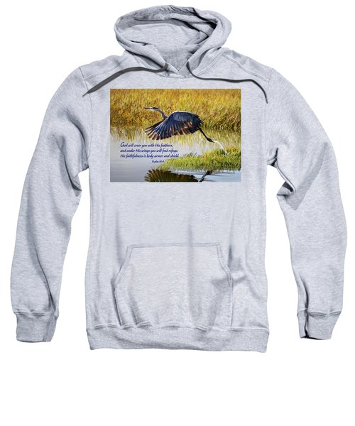 Wings Of Refuge With Scripture Sweatshirt