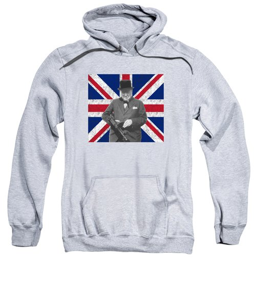 Winston Churchill And His Flag Sweatshirt