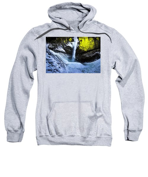 Winter At Latourell Falls Sweatshirt