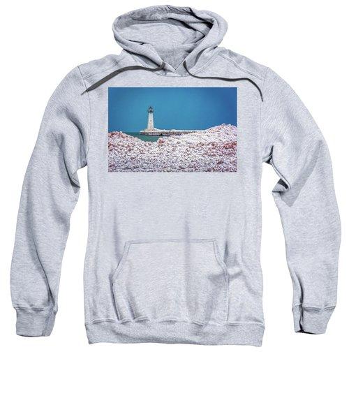 Winter At Sodus Point  Sweatshirt