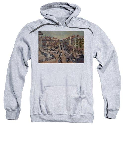 Winter At The Boulevard De La Madeleine, Paris Sweatshirt