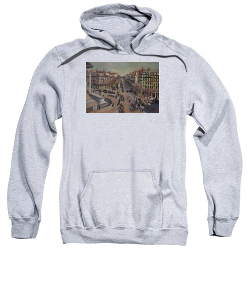 Winter At The Boulevard De La Madeleine, Paris Sweatshirt
