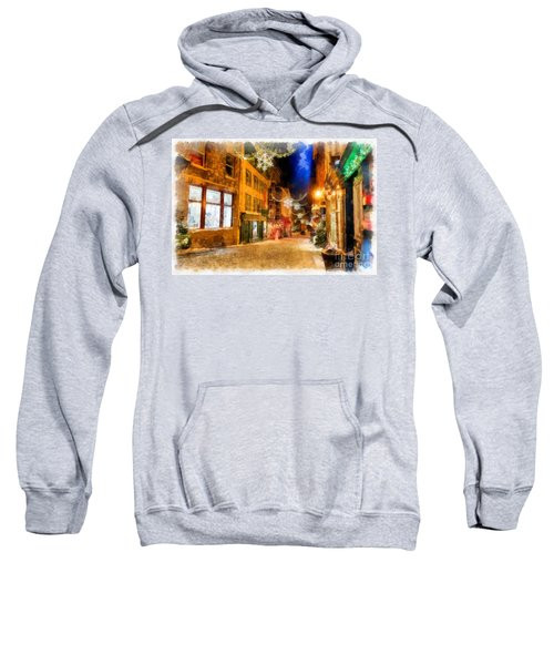 Winter Carnival Old Quebec City Lower Town Sweatshirt