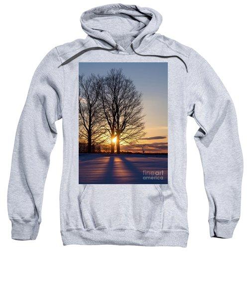Winter, Crystal Spring Farm, Brunswick, Maine -78592 Sweatshirt