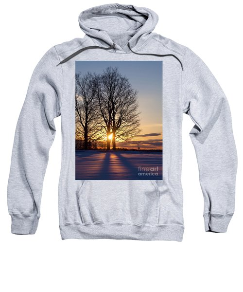 Winter, Crystal Spring Farm, Brunswick, Maine -78592 Sweatshirt