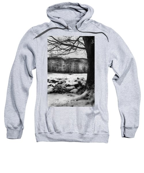 Sweatshirt featuring the photograph Winter Dreary by Bill Wakeley