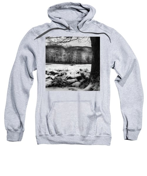 Sweatshirt featuring the photograph Winter Dreary Square by Bill Wakeley