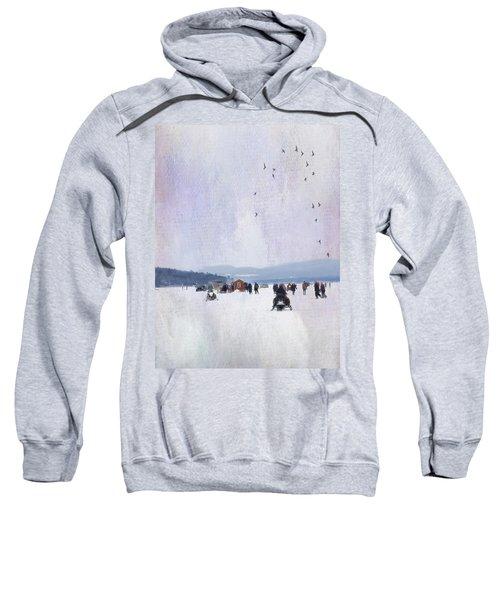 Winter Fun On The Lake Sweatshirt