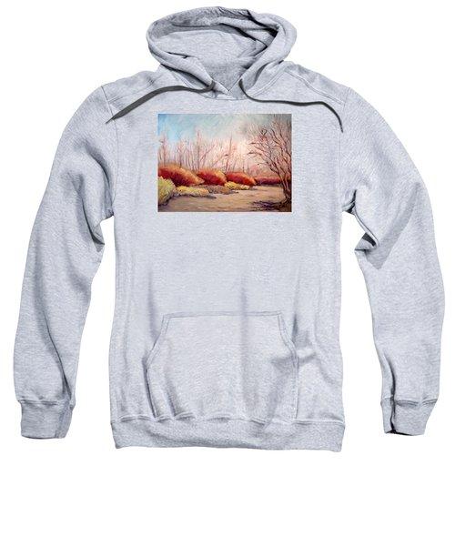 Winter Landscape Dry Creek Bed Sweatshirt
