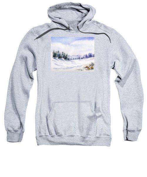 Winter Landscape Snow Scene Sweatshirt