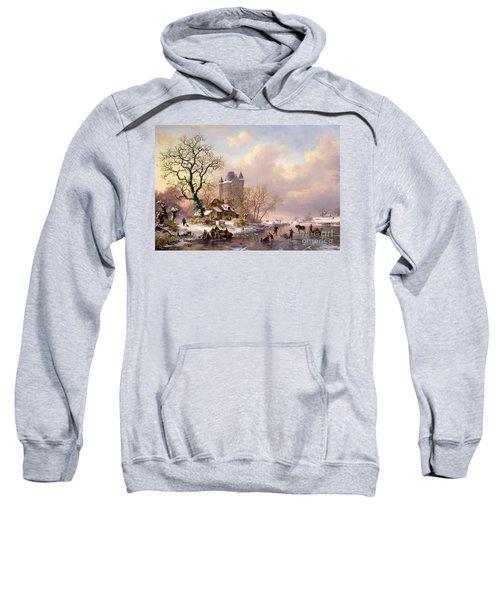 Winter Landscape With Castle Sweatshirt